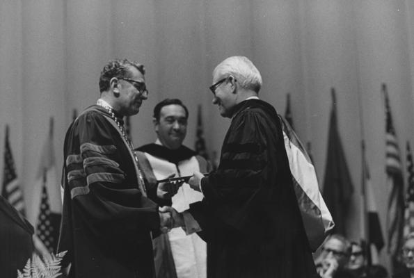 Wilson, Dr. Logan, Honorary Degree Recipient, photograph by Gittings