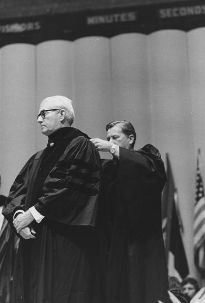 Wilson, Dr. Logan, Honorary Degree Recipient, photograph by Gittings