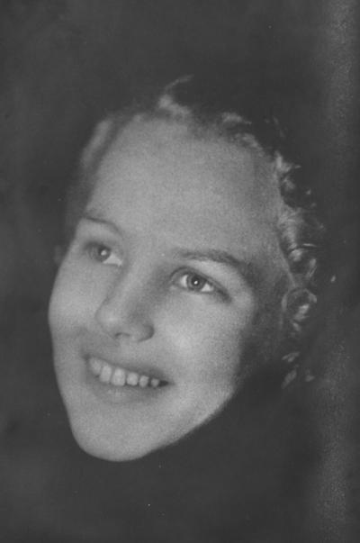 Woods, Frances, Delta Delta Delta sorority, Kentuckian Beauty Queen, from 1936 Kentuckian,  as seen in Lexington Herald Leader May 9, 1965 but taken from the Kentuckian