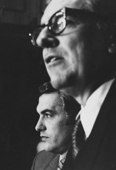 Curci, Fran, Univerisity of Kentucky Football Coach, pictured with President Otis Singletary