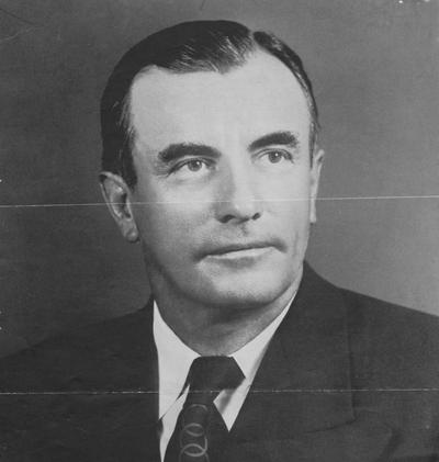 Brown, John Y. (Sr.), Alumnus, College of Law, 1926, Photograph received from Commercial Printing Company papers, May 28, 1954