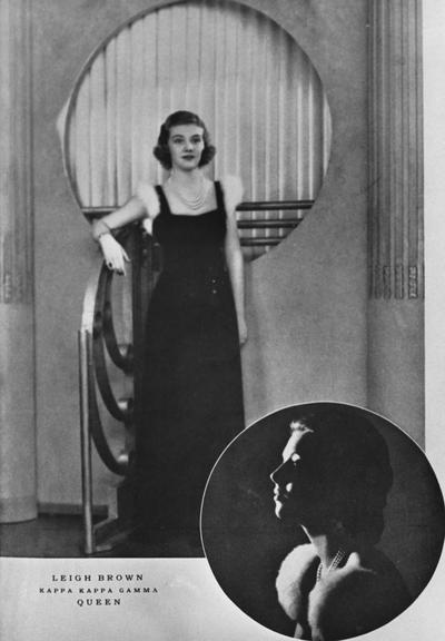 Brown, Leigh, Alumna, Kappa Kappa Gamma Queen, photograph featured in 1938