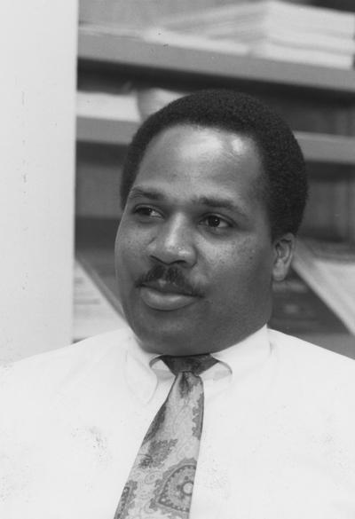 Brown, Robert, African American computer programer in anesthesiology, Photograph featured in March 12, 1992