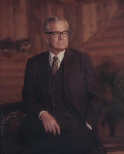 Singletary, Otis A., President of the University of Kentucky 1969-1987, Photographer: Walden's House of Photography Lexington, Kentucky
