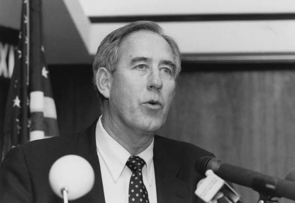 Newton, Charles Martin (C. M.), Athletics Director at the University of Kentucky, 1989 - 2000, Alumnus, member of 1951 championship basketball team under Adolph Rupp