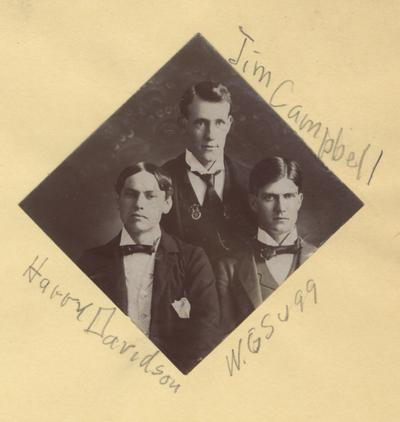 Campbell, Jim, Alumnus, pictured (top) with Harry Davidson (left) and W. G. Sugg (right)