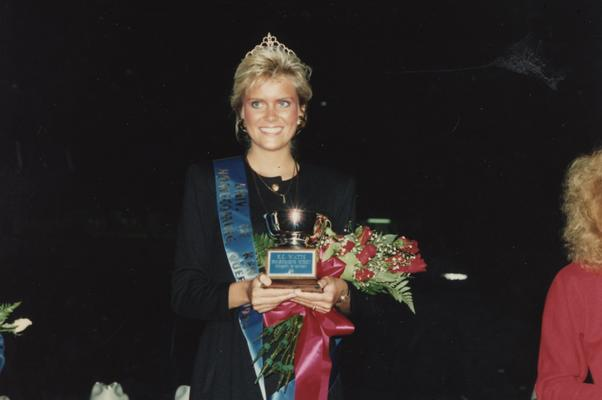 Watt, Kristin Catherine (K.C.), 1989 Homecoming Queen crowned at a football game at Commonwealth Stadium, married name Ms. Scott Crosbie