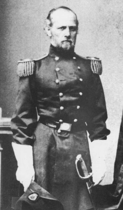 Buell, Don Carlos, 1880 - 1900 Board of Trustees member.  Major General Buell graduated from West Point in 1841 and served in the Seminole and Mexican Wars.  He also served in the Civil War when he became a major general with a command of the Army of the Ohio at Perryville, Kentucky.  He signed his commission in 1864