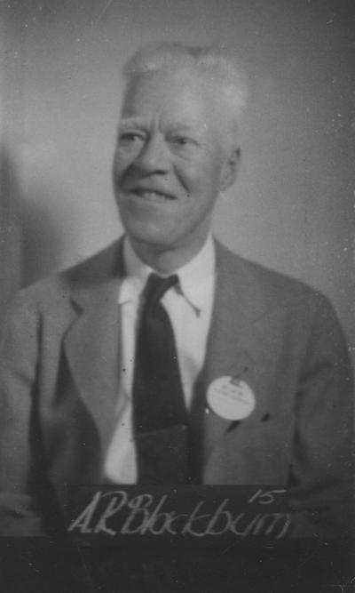 Blackburn, Albert, Class of 1915, attended reunion in 1940