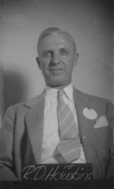 Hawkins, Robert Dawson, Class of 1915, attended reunion in 1940
