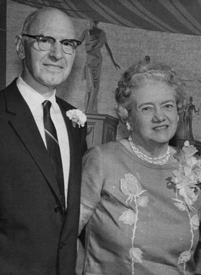Card, Dana, Professor, College of Agriculture, pictured with spouse
