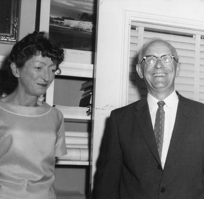 Chamberlain, Leo M., Professor, Education, University Vice President, pictured with Mrs. Ethel Wyatt