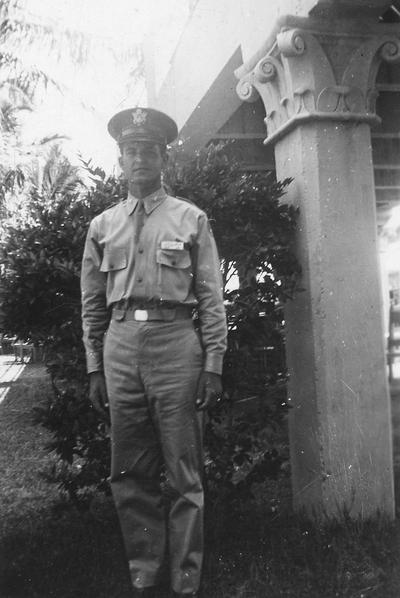 Clay, Maurice Alton, Professor, Physical Education, Coordinator, Undergraduate Professional Physical Education, 1940? - 1976, Alumnus, Ph. D., 1955, Executive Director of Omicron Delta Kappa national college leadership honor society, Former president of the UK Faculty Club, Board of Spindletop Hall, pictured in military uniform