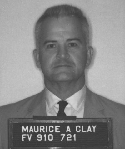 Clay, Maurice Alton, Professor, Physical Education, Coordinator, Undergraduate Professional Physical Education, 1940? - 1976, Alumnus, Ph. D., 1955, Executive Director of Omicron Delta Kappa national college leadership honor society, Former president of the UK Faculty Club, Board of Spindletop Hall, small passport (?) photograph