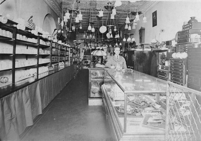An image of Ben Charles Ingels, Senior (father of Margaret Ingels) in a shop located in Danville, Kentucky