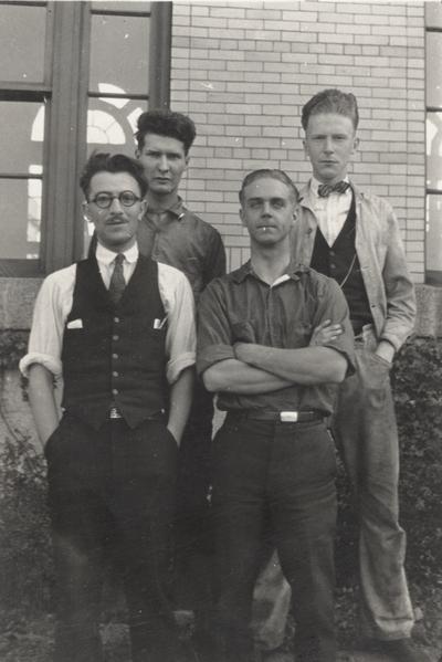 A portrait of unidentified four men