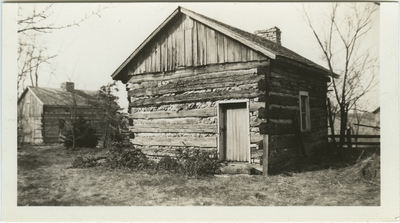 One story slave cabin; used as illustration facing page 50 in Coleman's