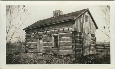 One story slave cabin; same cabin pictured in item 11