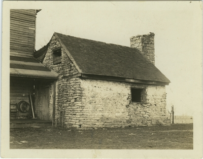 One story out house; written on back: