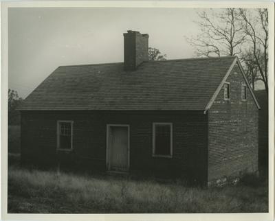 One story slave cabin; written on back:
