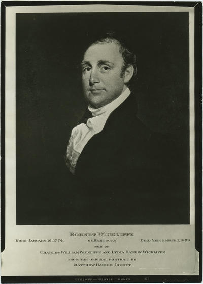 Robert Wickliffe; used as illustration facing page 290 in Coleman's
