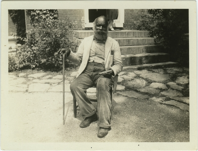 Old Black Joe Jr., former slave at Federal Hill of Bardstown, Kentucky known today as My Old Kentucky Home; written on back: