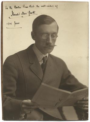 Portrait of Harold MacGrath, autographed,