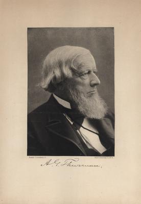 Portrait of A. G. Thurman with printed autograph
