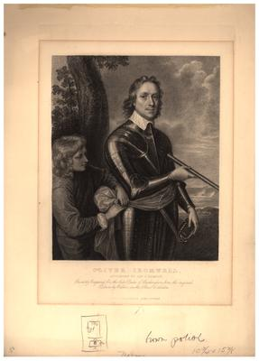 Portrait of Oliver Cromwell, Lord Protector of England