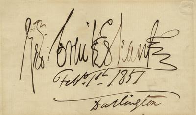 Hand written signature