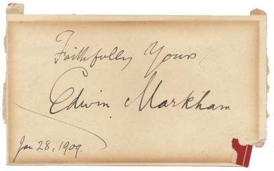 Hand written inscription