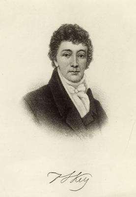 Copy photograph of Francis Scott Key, with autograph