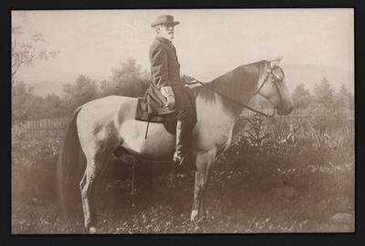Portrait of Robert E. Lee on his war horse