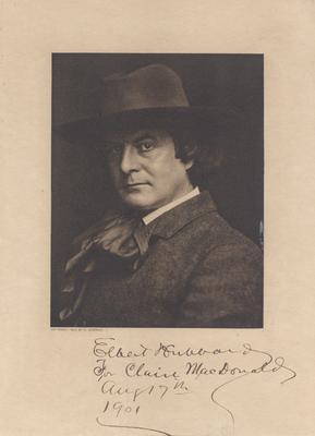 Portrait of Elbert Hubbard, autographed to