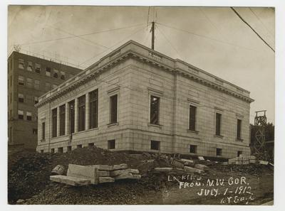 Construction of post office.                          Winchester Ky P.O. handwritten on verso