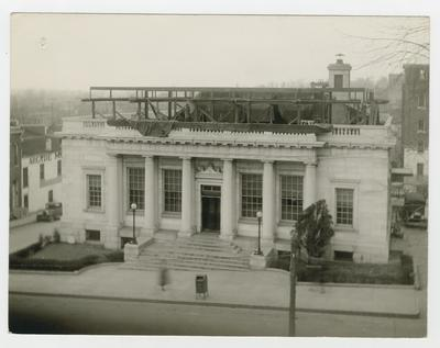 Post office rooftop addition.                          U.S. Post Office // Winchester, Kentucky // February 26, 1935 // South Elevation showing Structural Steel // for 2nd floor typed on verso