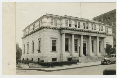 Post office.                          No. 7 // U.S. Post Office // Winchester, Ky., // June 5, 1935 // From S.W. Looking N.E. typed on verso