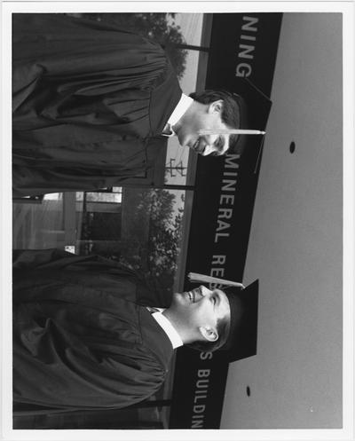 From left to right: Greg Haywood and Jonathan Hale, 1990 graduates