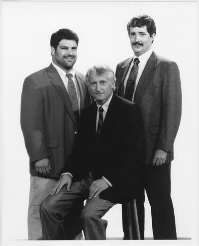 Coal Journal ad series, 1991; From left to right: Tim Canopy, Dr. Andrew Wala, and Doug Knuckles