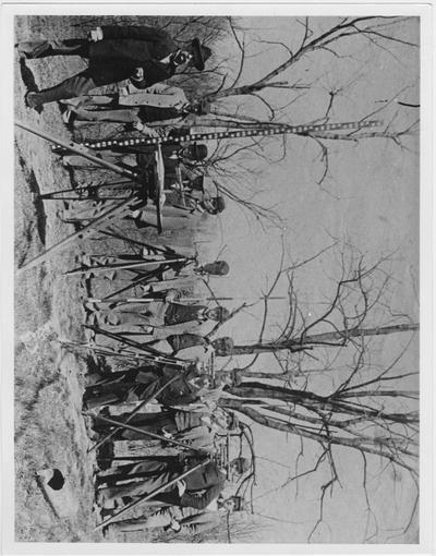 A Civil Engineering class; A similar print appears on page 45 of the 1900 Alumni Report