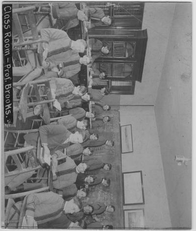 Professor Brooks' Hydraulics class at the Kentucky State College; Photographer: R. A. Milligan