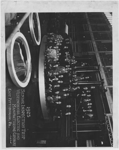 Senior inspection trip to Westing House Electric and Manufacturing Company, East Pittsburgh, Pennsylvania