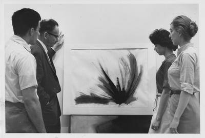 University of Kentucky student art; Gail Peterson, second from right