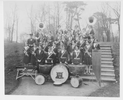 First University of Kentucky woman's band, directed by Elmer Sulzer, founder of WUKY - FM and the Public Relations office