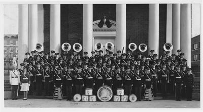 University of Kentucky Band; This image is on page 218 of the 1941 Kentuckian