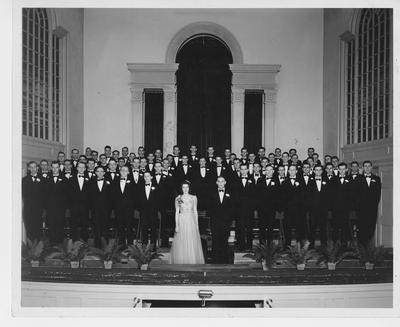 Men's Glee Club (directed by Donald W. Allton); This image is on page 223 of the 1941 Kentuckian; Photographer: LaFayette Studio
