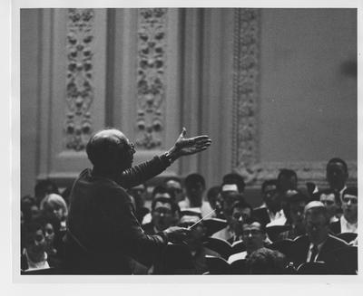 Max Rudolf conducting a rehearsal in Carnegie Hall