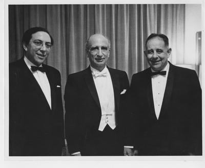 President John Oswald (far right) traveled to New York with the chorus for their performance at Carnegie Hall; Photographer: Beth Bergman