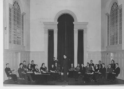Simfonietta conducted by Alexander Capurso in Memorial Hall; This image is on page 225 of the 1941 Kentuckian