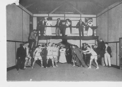 Members of the Strollers organization perform a play; This image is on page 312 of the 1912 Kentuckian